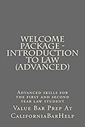 Welcome Package – Introduction To Law (Advanced): Only 9 dollars and 99 cents! Look Inside!