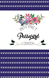Internet Password Logbook: A Beautifully Designed Floral Password Book (5 x 8 inch, 100+ Pages)